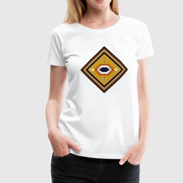 native american pattern - Frauen Premium T-Shirt