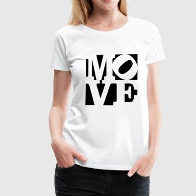 move Homage to Robert Indiana move black outside - Women's Premium T-Shirt
