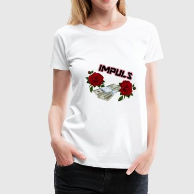IMPULSE röd - Premium-T-shirt dam