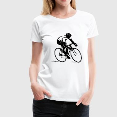 bicycle mountain bike cyclist mountainbike fahrrad - Frauen Premium T-Shirt