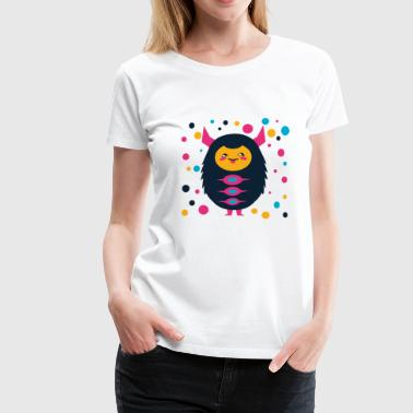 cool colorful monster, gift for kids - Women's Premium T-Shirt