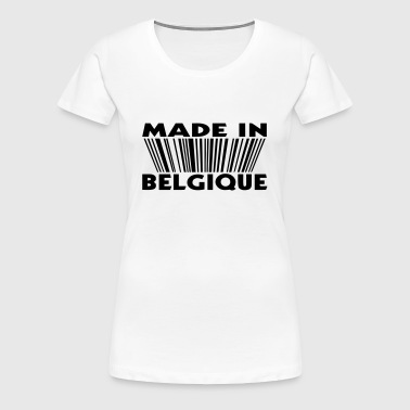 made in Belgique 3D code (1c) - T-shirt Premium Femme