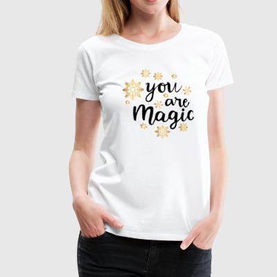 DU ER MAGIC - Dame premium T-shirt