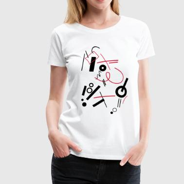 Abstract composition - Women's Premium T-Shirt