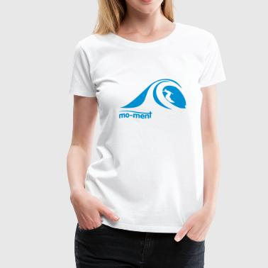 Surfer in der Tube - Frauen Premium T-Shirt