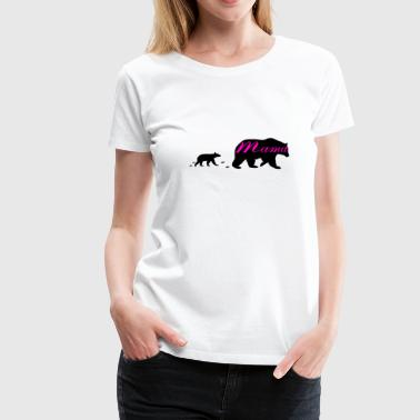 Hip Mom's Mama Bear and Bear Cub Vintage Shirt - Women's Premium T-Shirt