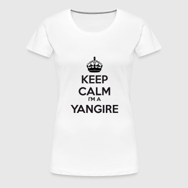Yangire keep calm - Premium-T-shirt dam