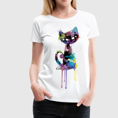 CatRina Splash - Women's Premium T-Shirt