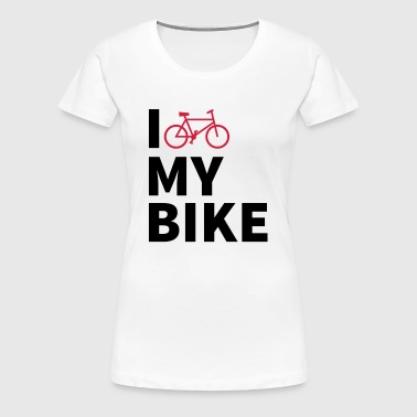 i love my bike - Women's Premium T-Shirt