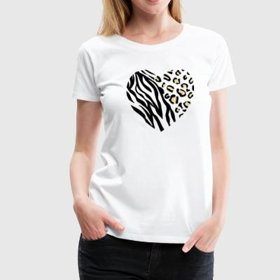 ANIMAL HEART - Frauen Premium T-Shirt
