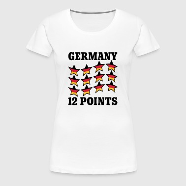 Germany 12 Points | Stars | Stern | Deutschland | Flagge | Flag - Women's Premium T-Shirt