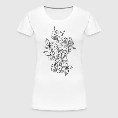 Graphic Flowers - Frauen Premium T-Shirt