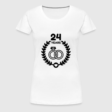 24 - Birthday Wedding - Marriage - Love - Women's Premium T-Shirt