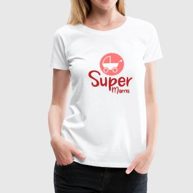 Super Mom - Baby Carriage Baby Superhero Pregnant - Vrouwen Premium T-shirt
