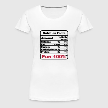 Nutrition Facts - Women's Premium T-Shirt