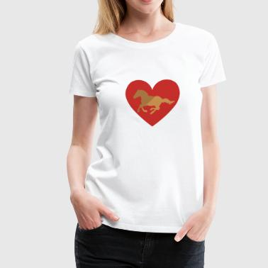 My love for my horse - Women's Premium T-Shirt