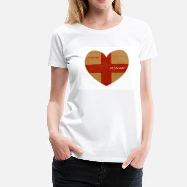 St Georges Day WAVING THE FLAG - Women's Premium T-Shirt