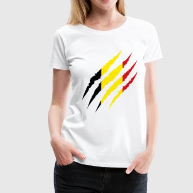 Belgique - Fan Coupe du Monde de Football - T-shirt Premium Femme