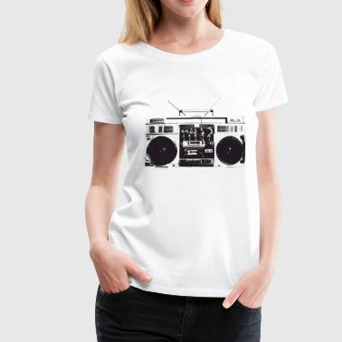 Ghetto blaster vintage, old school hip hop - Women's Premium T-Shirt