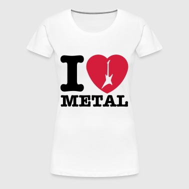 I love Metal! hearth guitar 2 - Women's Premium T-Shirt