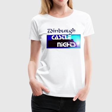 Silhouette of Edinburgh Castle - Women's Premium T-Shirt