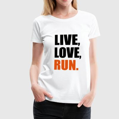 2541614 14134907 run - Frauen Premium T-Shirt