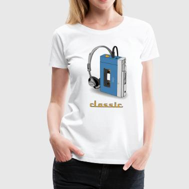 Klassiskt WALKMAN retro design, blå - Premium-T-shirt dam