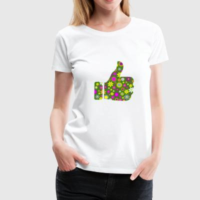 Retro Blomster Thumb Air - Dame premium T-shirt