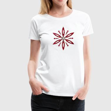 Flower of Aphrodite, red, Symbol of  love, beauty and transformation, Power Symbol, Talisman - Women's Premium T-Shirt