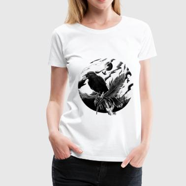 Crow and feather - Women's Premium T-Shirt