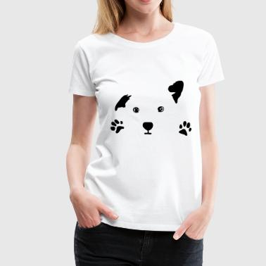 dog, puppy, dog face - T-shirt Premium Femme