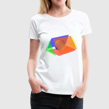prism and sphere - Women's Premium T-Shirt
