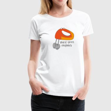 to bake - Women's Premium T-Shirt