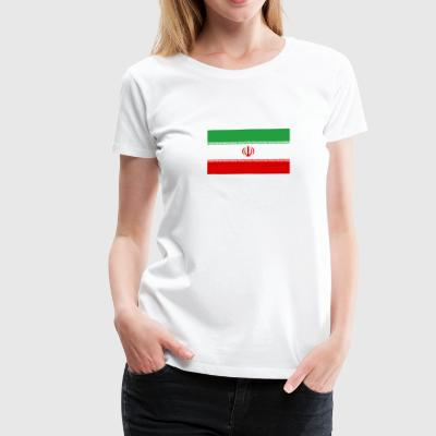 National Flag Of Iran - Premium-T-shirt dam