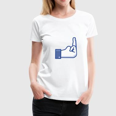 middle finger - Women's Premium T-Shirt