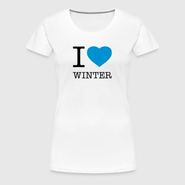 I LOVE WINTER - Premium T-skjorte for kvinner
