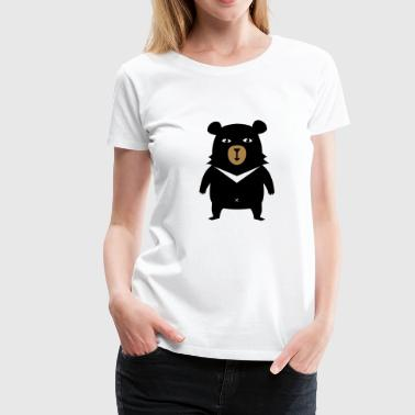 BOBBY THE BEAR T-SKJORTE - Premium T-skjorte for kvinner