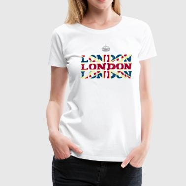 London England Union Jack brexit crown Queen trip - Women's Premium T-Shirt