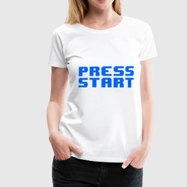 Press Start - Maglietta Premium da donna