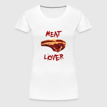 Meat Lover - BBQ Barbecue Grill Fun Grillmeister - Frauen Premium T-Shirt