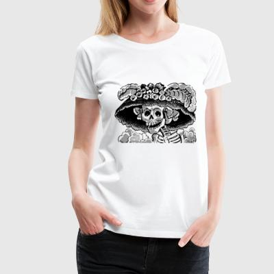 Skelett - Frauen Premium T-Shirt