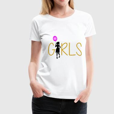 Girl Girl with Balloon Pink Gift - Women's Premium T-Shirt