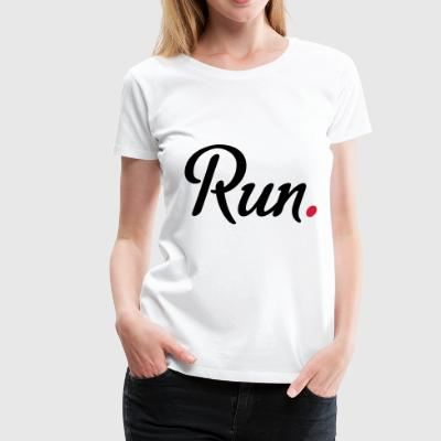 2541614 15946905 run - Frauen Premium T-Shirt