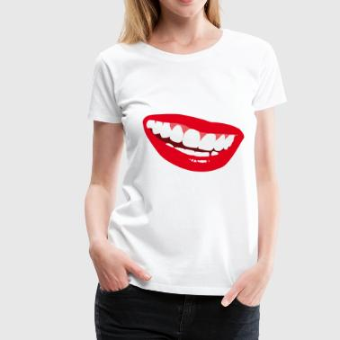 Smiley Lips - Dame premium T-shirt