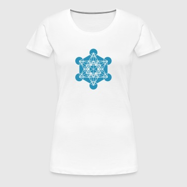 Metatrons Cube - Vector - Platonic Solids / - Women's Premium T-Shirt