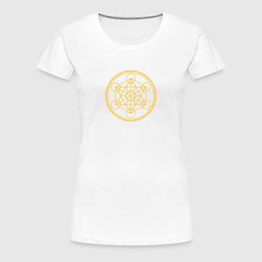 merkaba - flower of life - Women's Premium T-Shirt