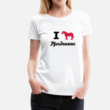 I love Friesians I love ponies i love horse riding I  heart tab - Women's Premium T-Shirt