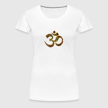 Sacred OM (AUM - I AM), DD, manifestation of spiritual strength, The energy symbol gives , peace and bliss - Koszulka damska Premium