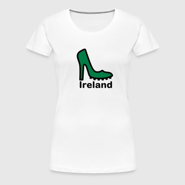 Ireland Lady football fan 2clr - Women's Premium T-Shirt