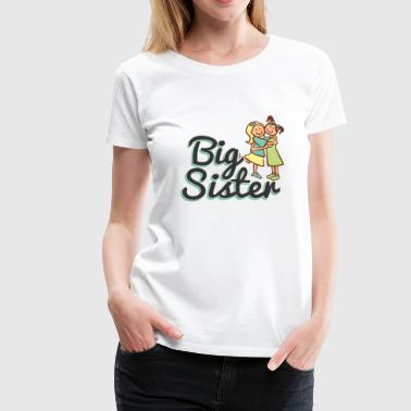BIG SISTER, BIG SISTER, White - Women's Premium T-Shirt